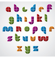 Colorful glossy geometric smooth comic font bright vector