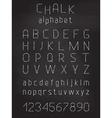 Chalk grunge font vector