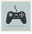 Computer video game controller joystick vector