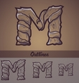Halloween decorative alphabet - m letter vector