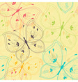 Seamless pattern with stylized butterflies vector