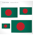 Bangladesh flag template vector