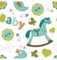 Colorful baby boy pattern vector