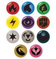 Pokemon type symbols vector