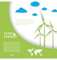 Brochure design with wind turbines vector