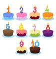Ten cakes vector