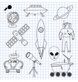 The images on the theme of outer space vector