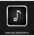 Music sound icon silver metal vector