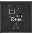 Restaurant chefs special menu design vector