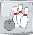 Bowling sports theme vector