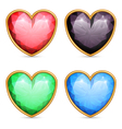 Heart shaped gems vector