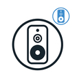 Audio speaker icon isolated vector
