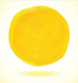 Yellow acrylic paint circle vector