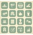 Retro political election campaign icons set vector