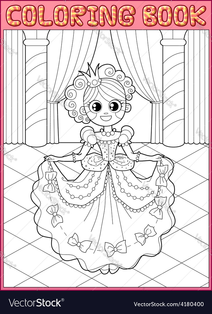 Coloring book fairy tail vector | Price: 1 Credit (USD $1)
