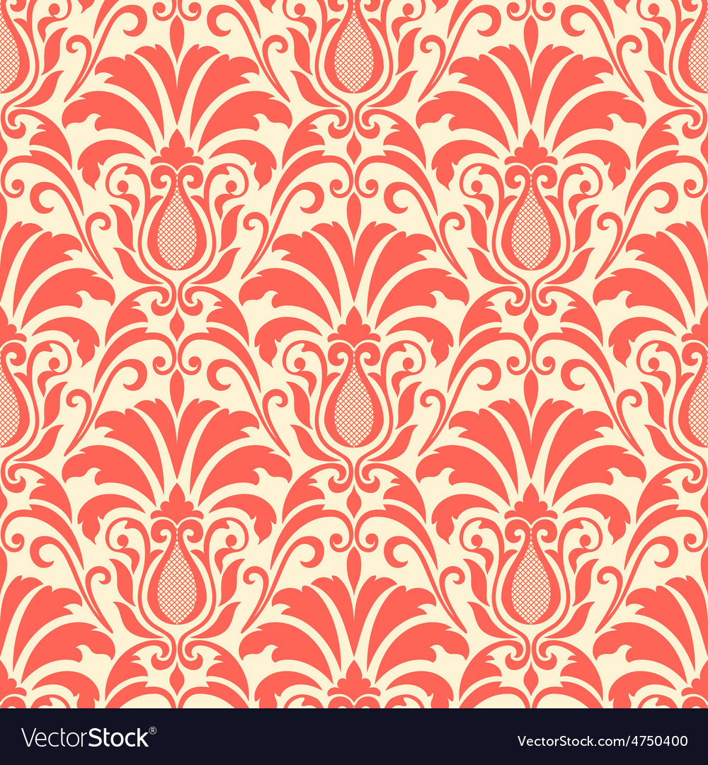 Damask seamless pattern background vector | Price: 1 Credit (USD $1)