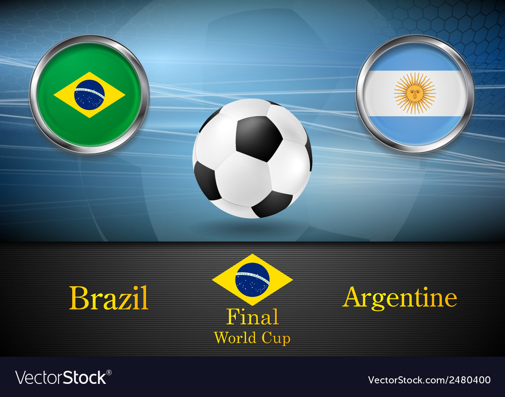 Final football brazil and argentine in brazil 2014 vector | Price: 1 Credit (USD $1)