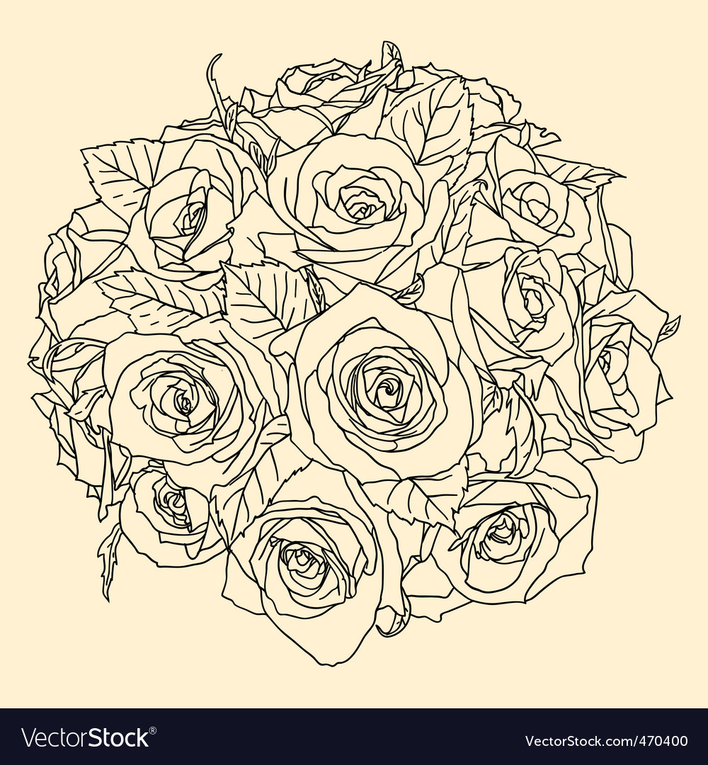 Hand drawn floral vector | Price: 1 Credit (USD $1)