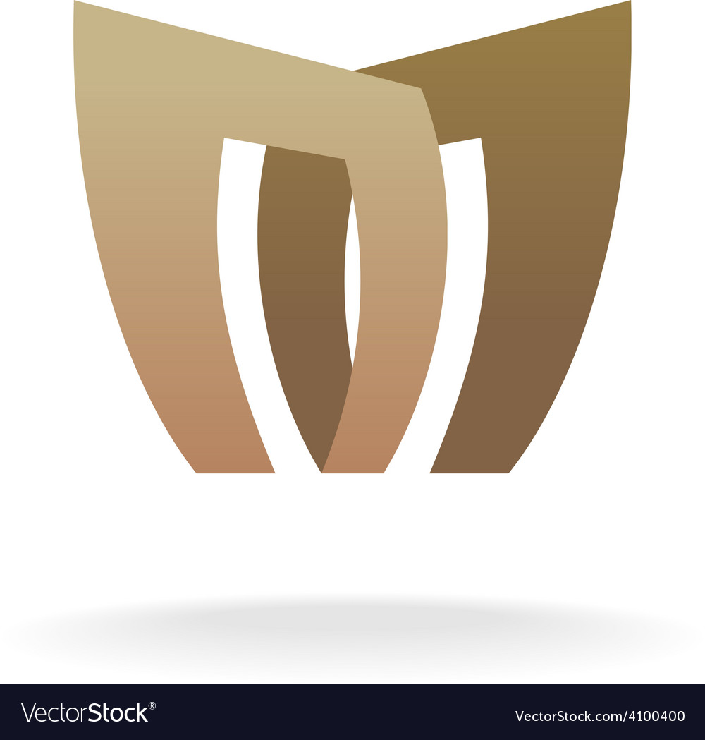 Letter m logo template architecture building vector | Price: 1 Credit (USD $1)