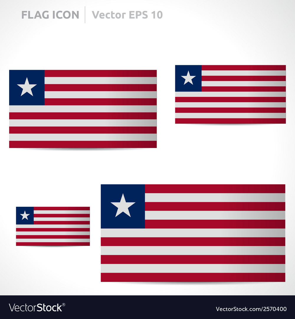 Liberia flag template vector | Price: 1 Credit (USD $1)
