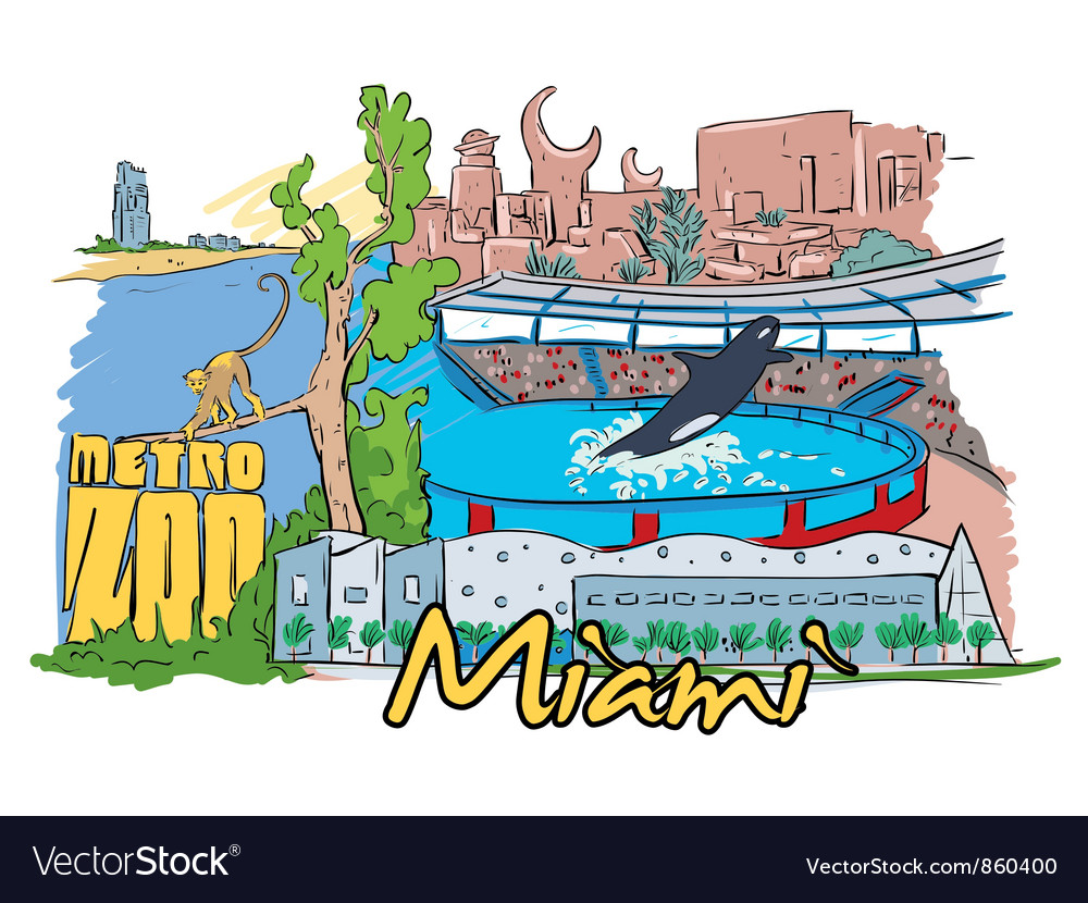 Miami doodles vector | Price: 3 Credit (USD $3)