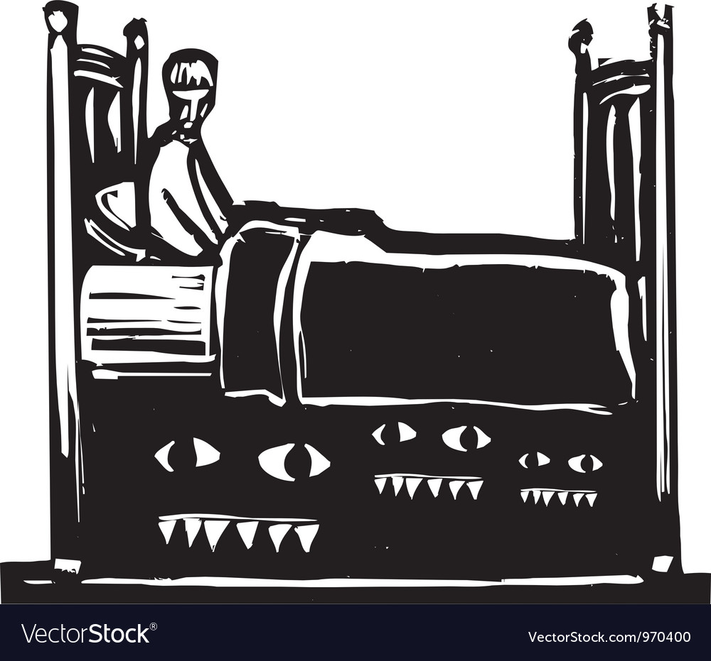 Monsters under bed vector | Price: 1 Credit (USD $1)