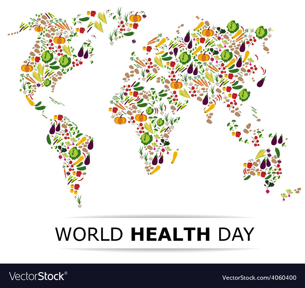 Nutrition food for healthy life world health day vector | Price: 1 Credit (USD $1)