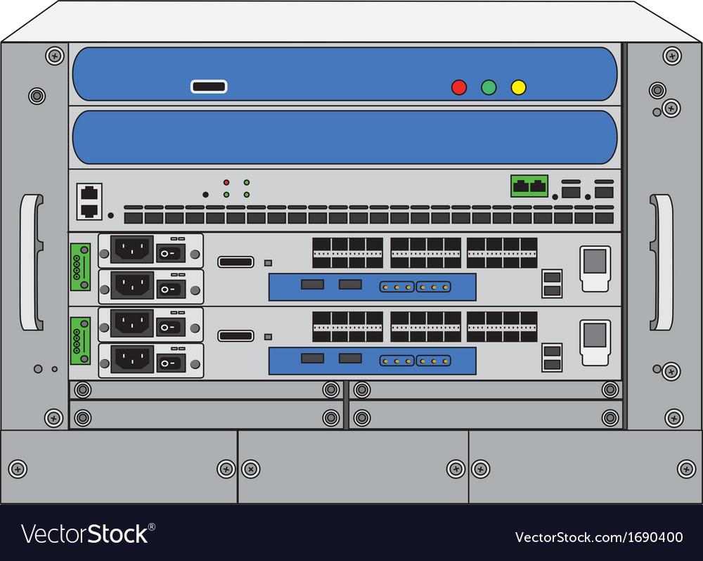 Rack systemdatabase machine vector | Price: 1 Credit (USD $1)