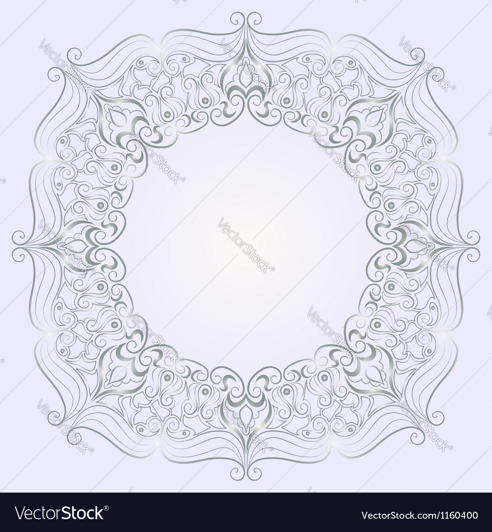 Round lace pattern vector | Price: 1 Credit (USD $1)
