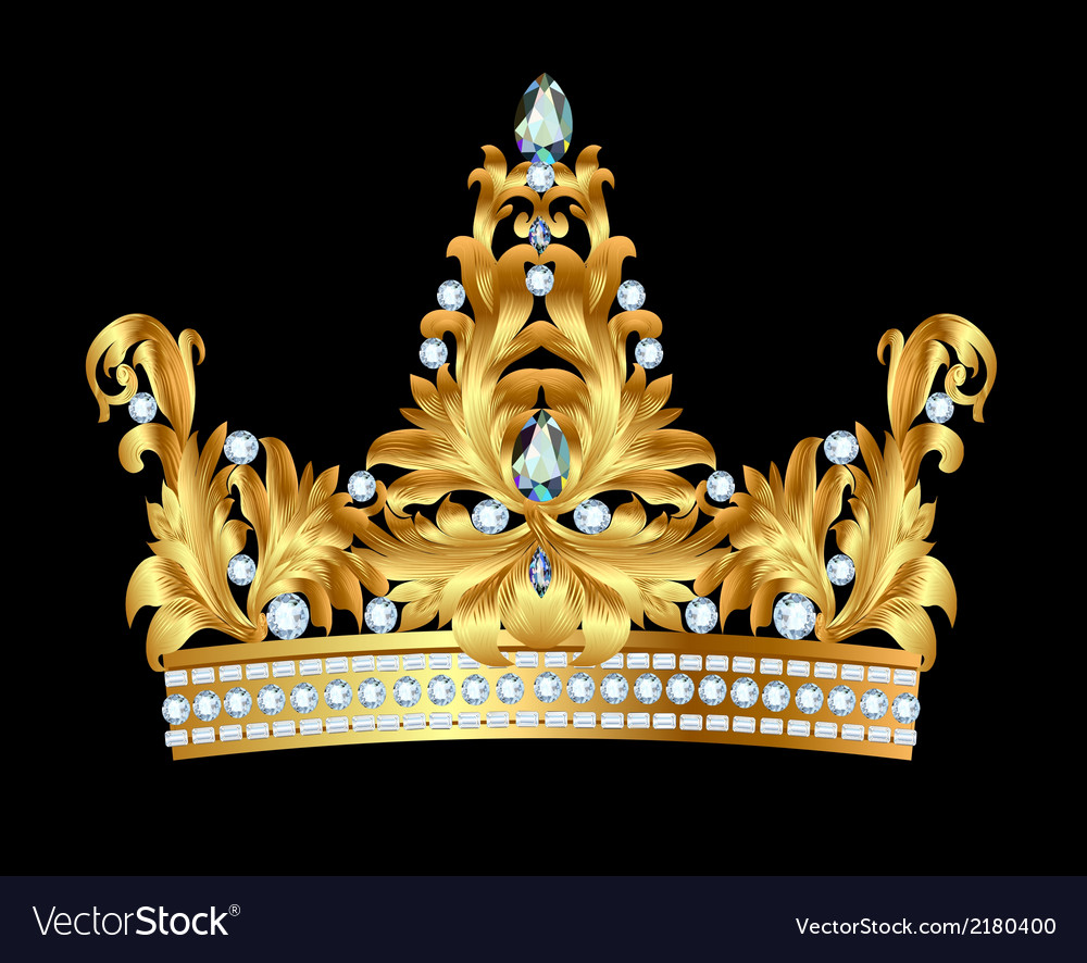 Royal gold crown vector | Price: 1 Credit (USD $1)