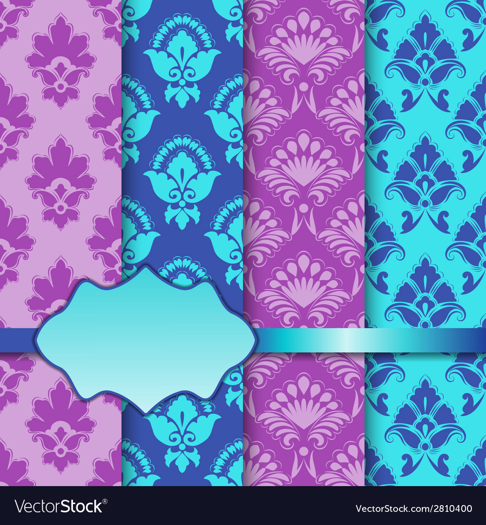 Set of seamless with lace pattern vector | Price: 1 Credit (USD $1)