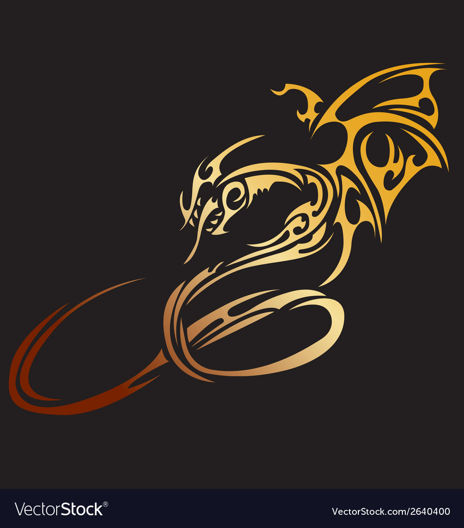 Stylised dragon vector | Price: 1 Credit (USD $1)