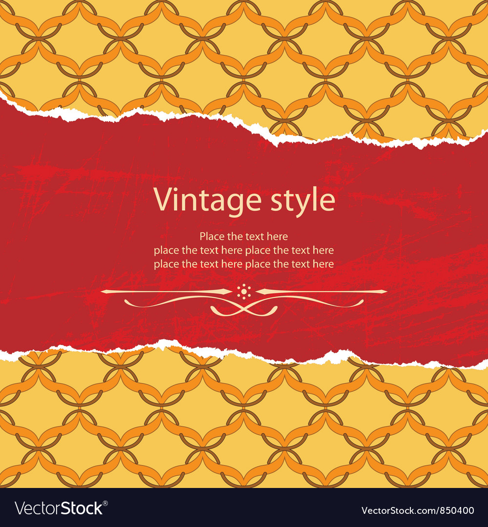 Vintage style template vector | Price: 1 Credit (USD $1)