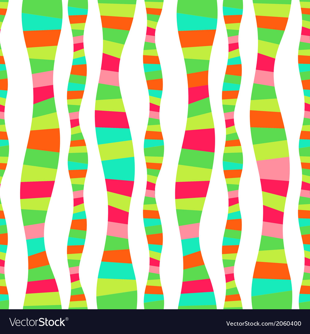 Wavy stripes mosaic seamless abstract wave vector | Price: 1 Credit (USD $1)