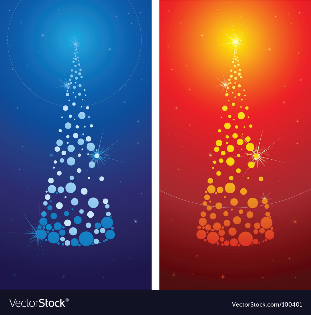 Decorative cute christmas tree backgro vector | Price: 1 Credit (USD $1)