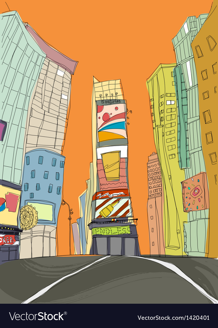 Downtown creative scene vector | Price: 1 Credit (USD $1)