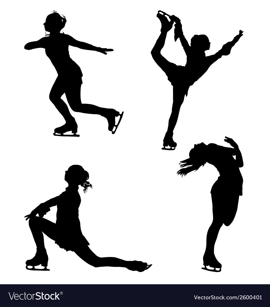 Figure skaters vector | Price: 1 Credit (USD $1)