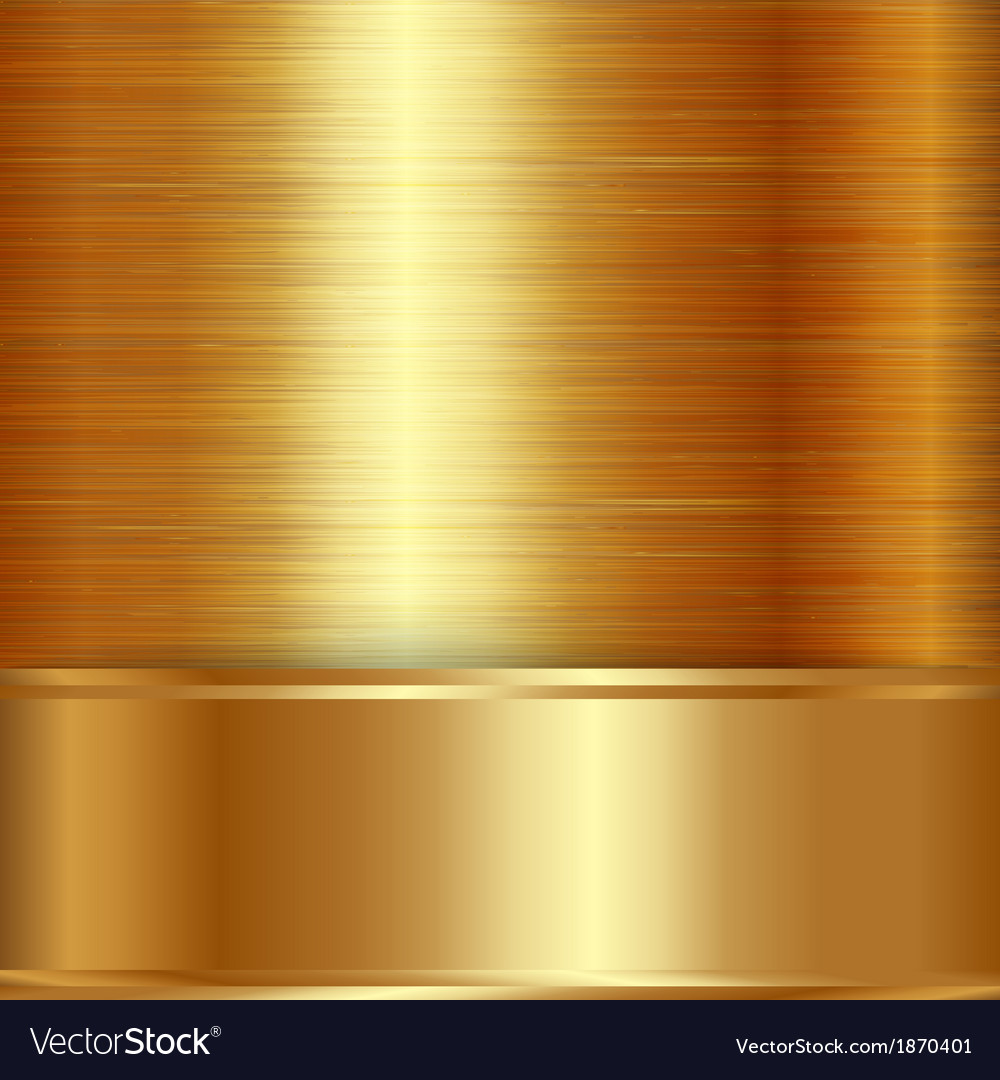 Gold brushed metallic plaque background vector | Price: 1 Credit (USD $1)