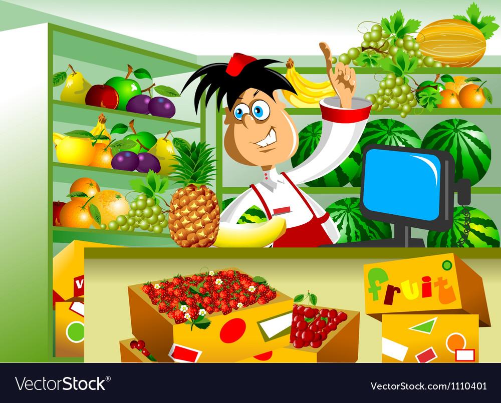 Greengrocer vector | Price: 1 Credit (USD $1)