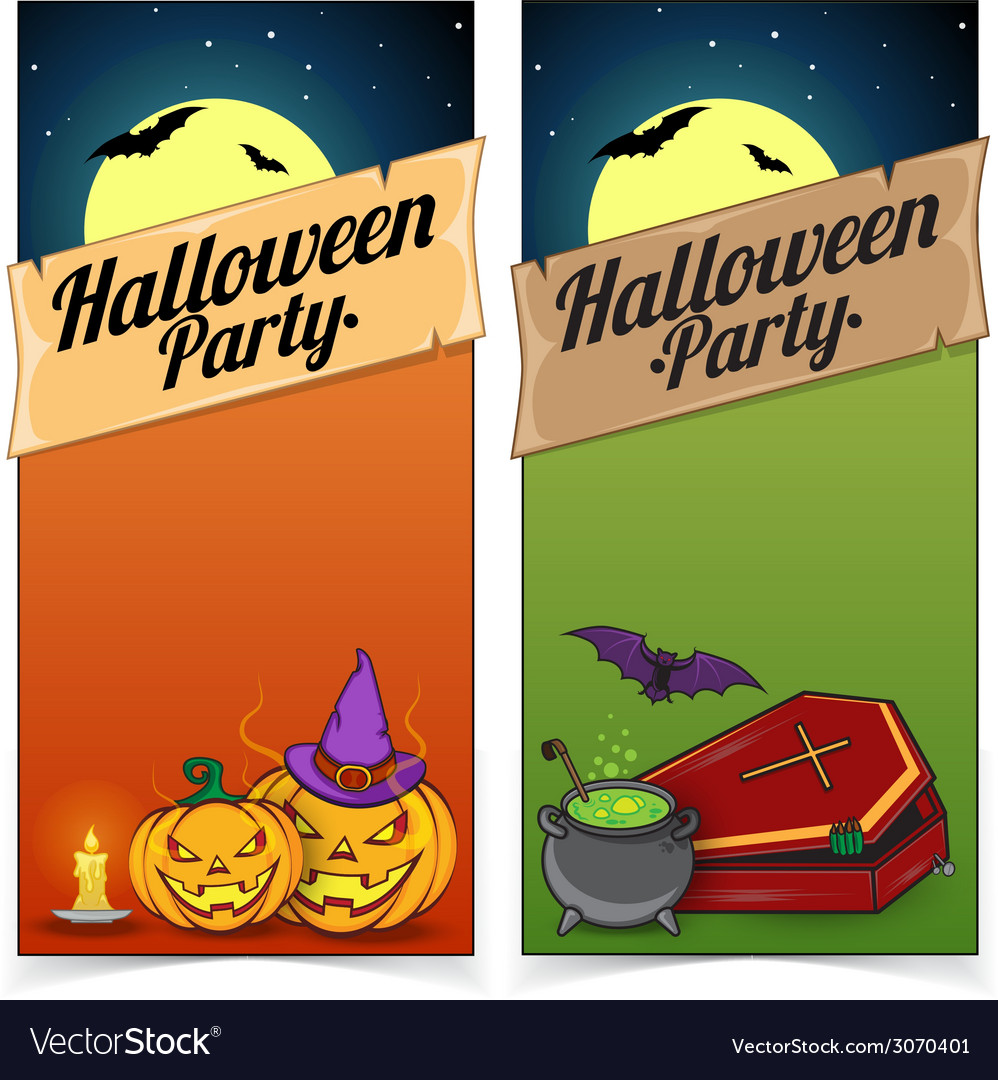 Halloween banners or flyers concept vector | Price: 1 Credit (USD $1)