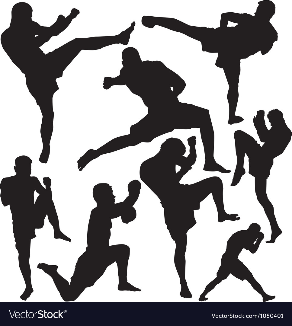 Muay thai vector | Price: 1 Credit (USD $1)