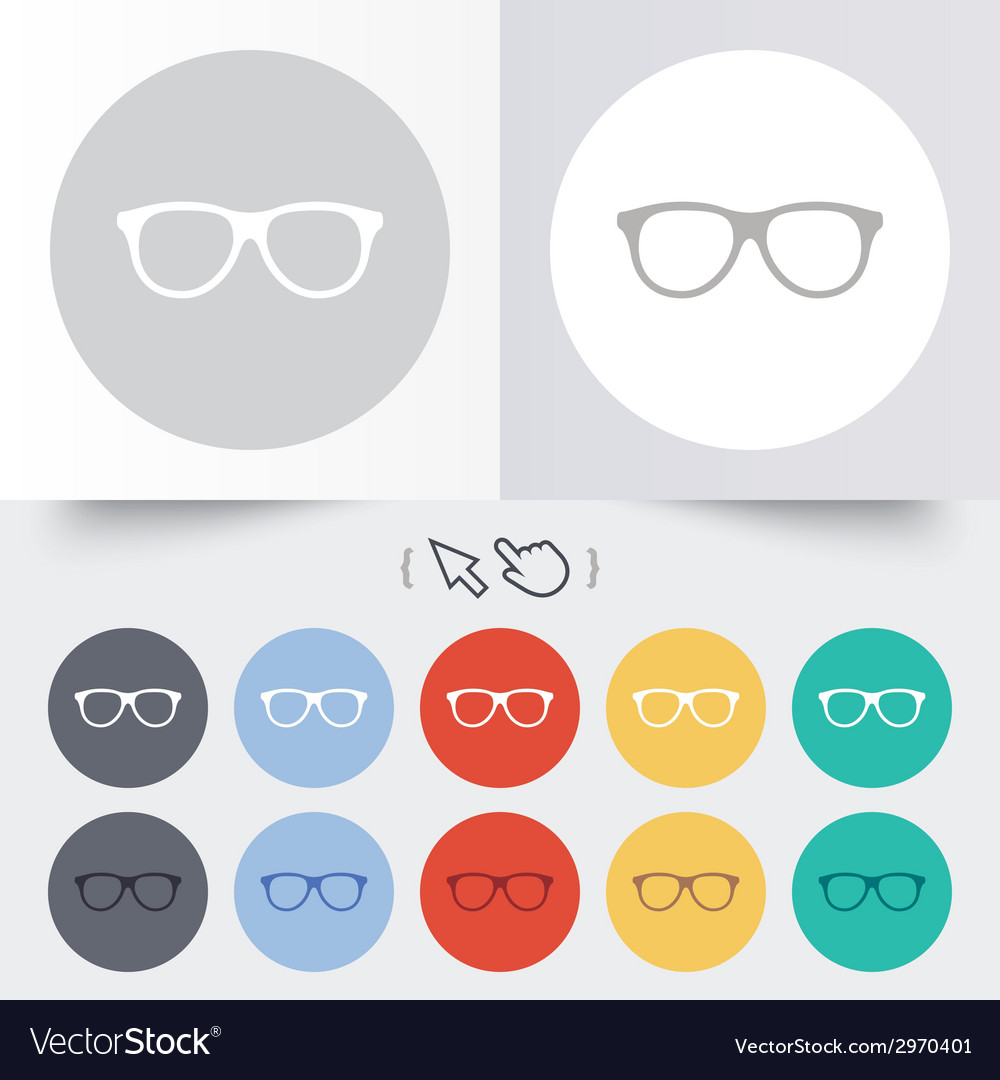 Retro glasses sign icon eyeglass frame symbol vector | Price: 1 Credit (USD $1)