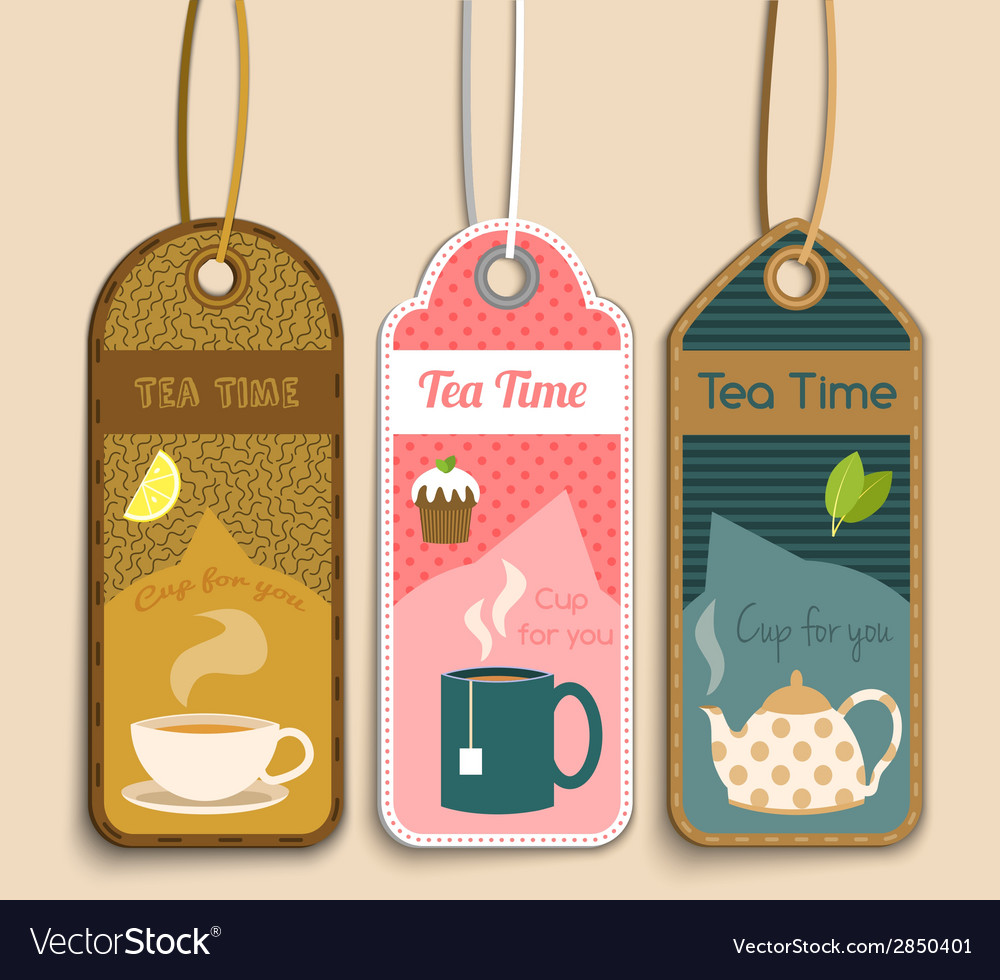 Tea labels set vector | Price: 1 Credit (USD $1)