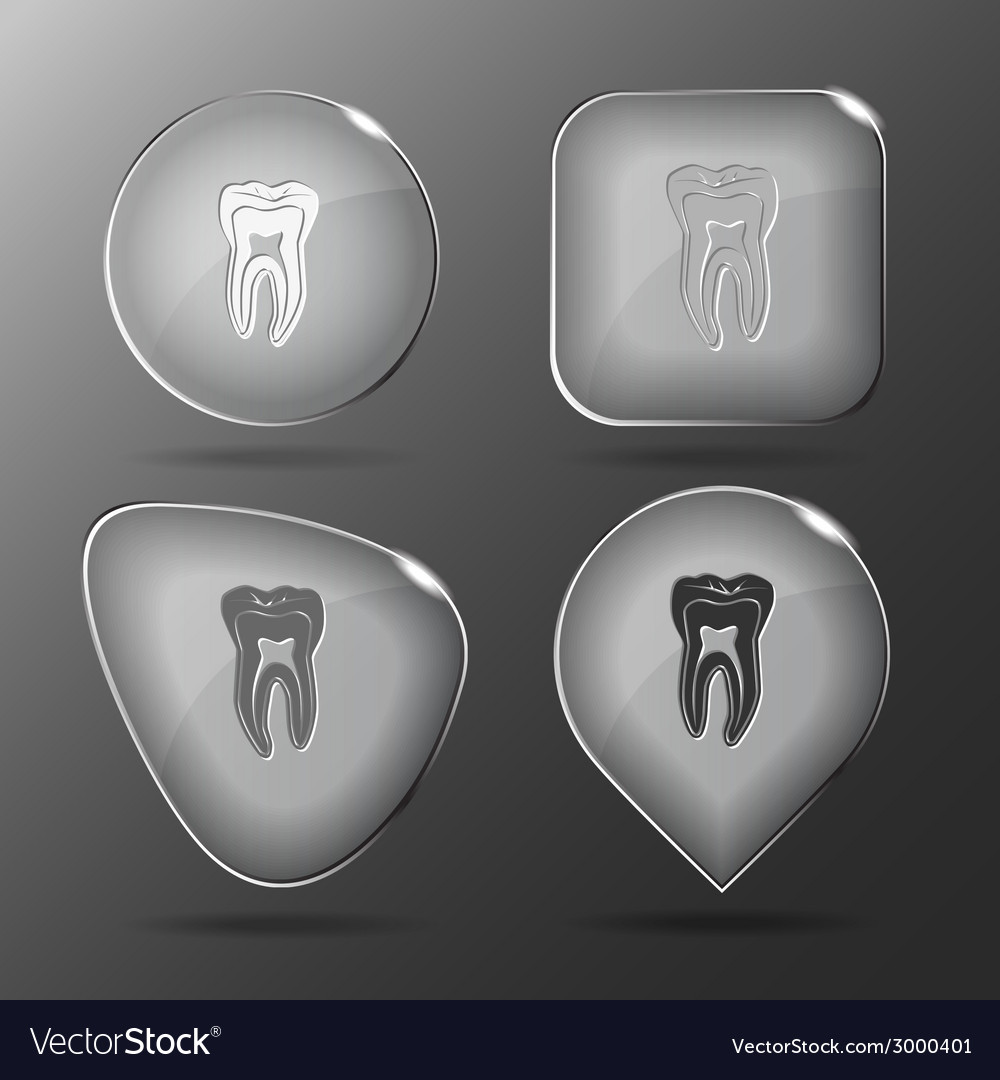 Tooth glass buttons vector | Price: 1 Credit (USD $1)