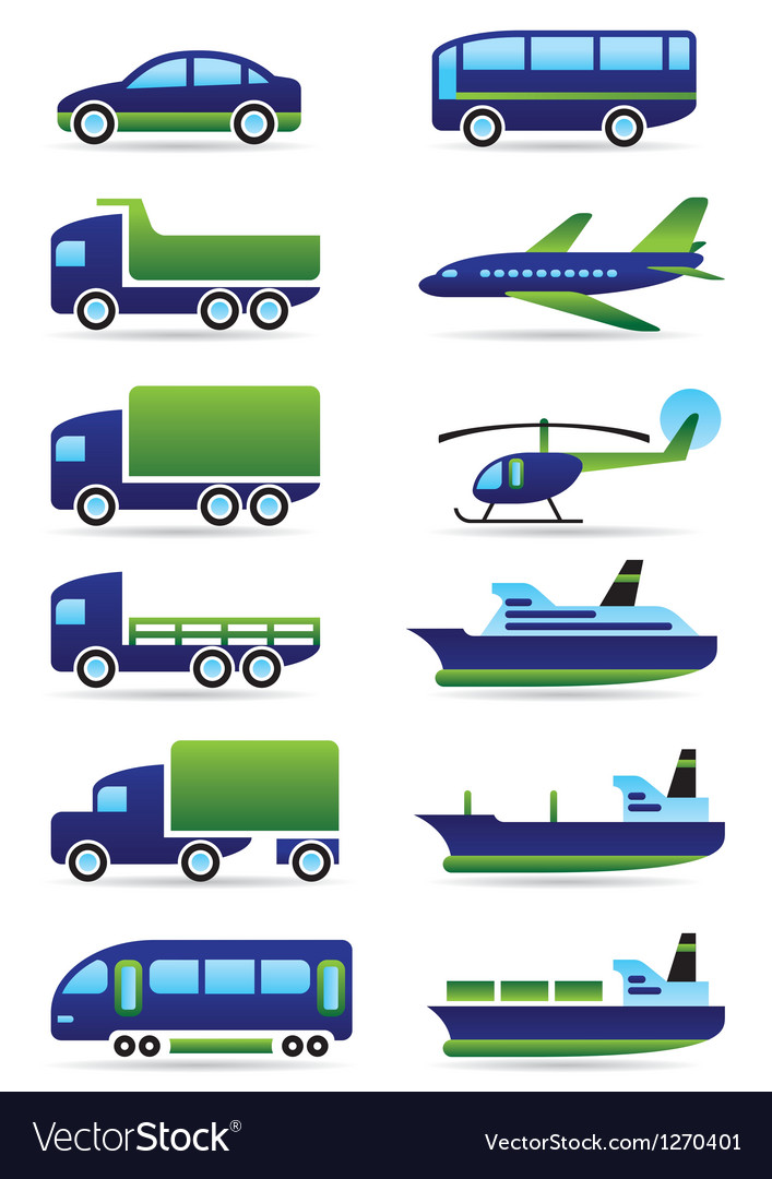 Vehicles icons set vector | Price: 3 Credit (USD $3)