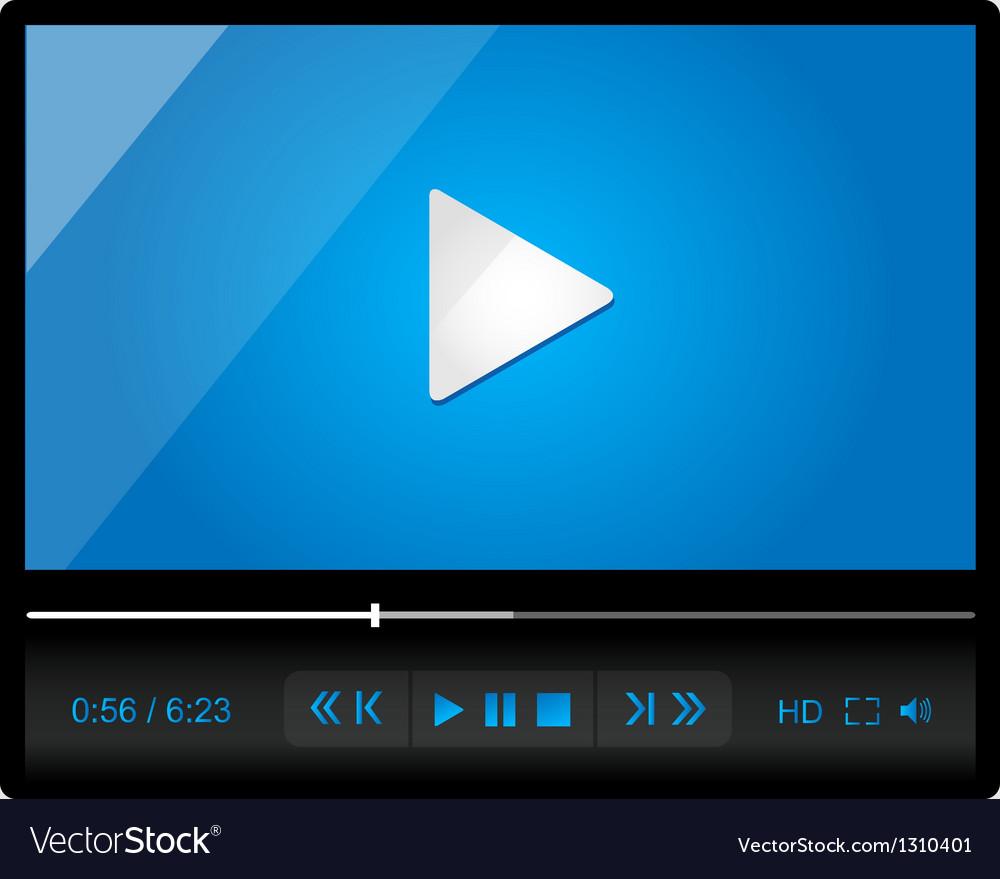 Video player for web minimalistic design vector   Price: 3 Credit (USD $3)