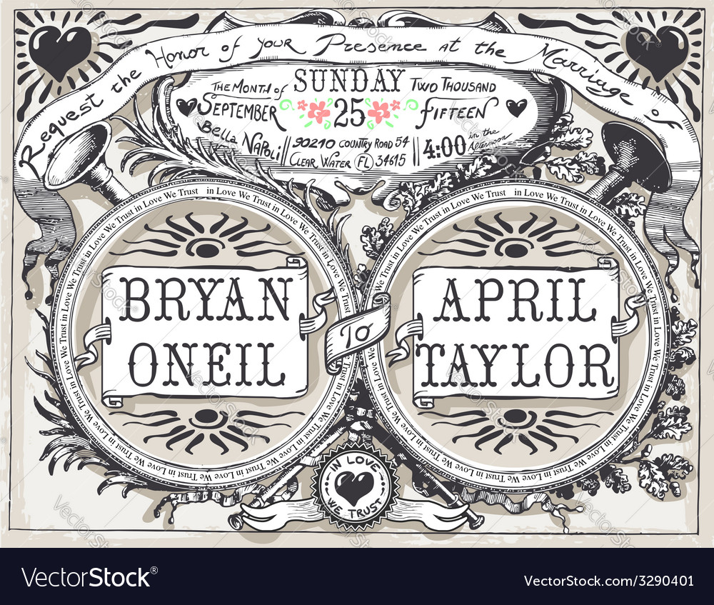Vintage wedding hand drawn banners and labels vector   Price: 3 Credit (USD $3)