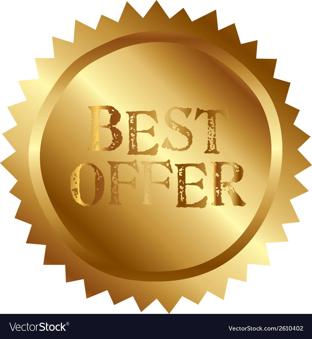 Best offer vector | Price: 1 Credit (USD $1)