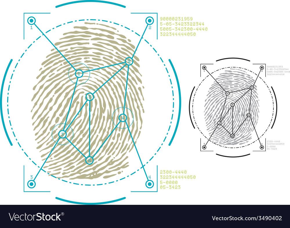 Biometric biometric2 vector | Price: 1 Credit (USD $1)