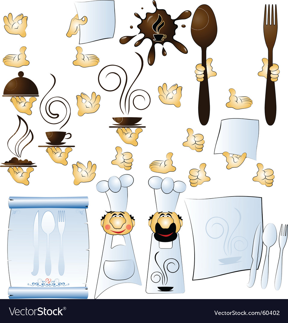 Cook and hands vector   Price: 1 Credit (USD $1)